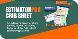 EstimatorPro Crib Sheet – How Do I…?